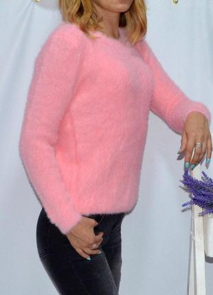 Свитер вязаный косы очень мягкий и теплый цвета