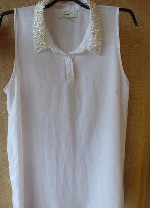 Блуза рубашка с украшением в камнях