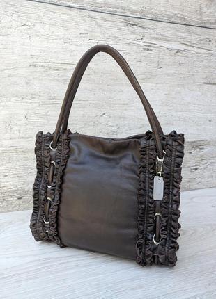 Donna karan кожаная сумка 100% оригинал dkny