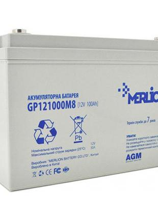 Аккумулятор Merlion AGM GP121000M8 12V 100Ah