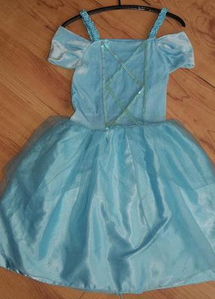 Карнавальный костюм платье принцессы на 5-7 лет
