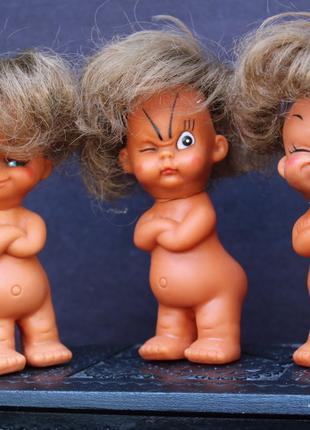 Кукла, лялька, куколка- Тайвань 3 шт. коллекционные 12 см.