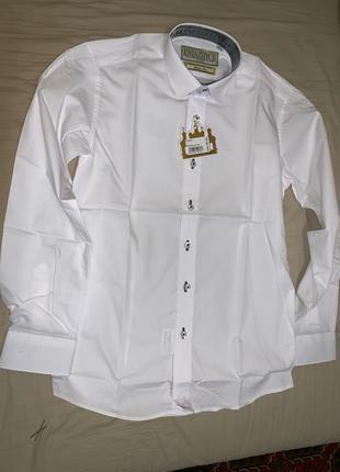 Рубашка для мальчика на 140-146 рост