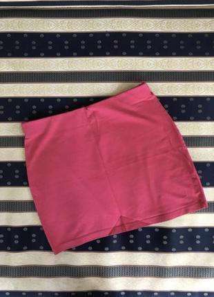 Червона малинова спідниця юбка мини