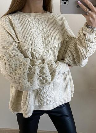 Очень тёплый бежевый свитер no name
