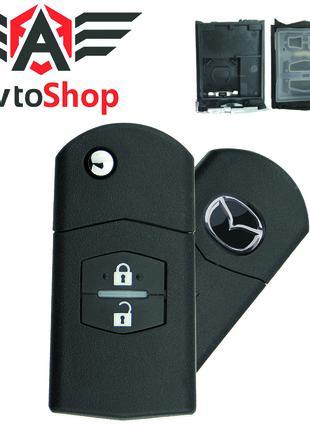 Выкидной ключ (корпус) для Mazda 3, 5, 6, RX8, MX5 на 2 кнопки