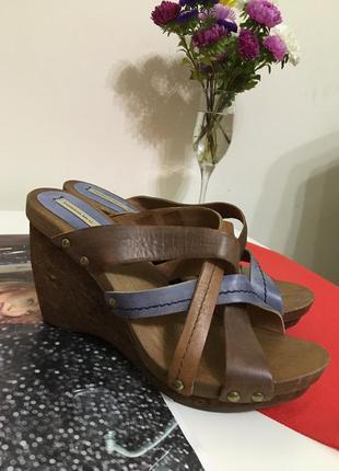 Сабо tosca blu босоножки 37 кожа сандалии