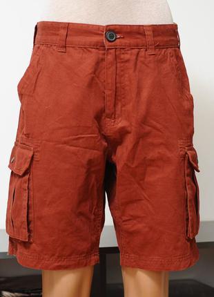 Avenue. хлопковые шорты терракотового цвета, унисекс.
