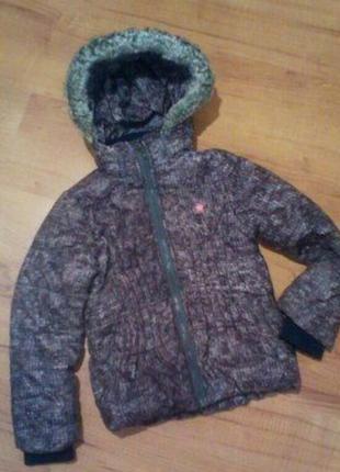 Курточка демисезонная тёплая с капюшоном