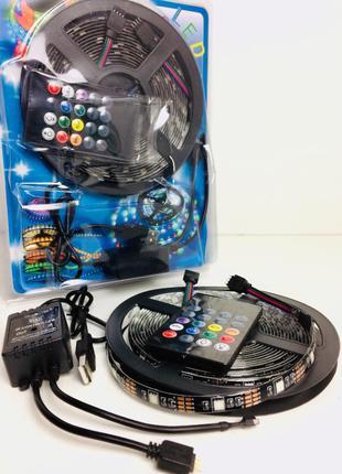 Светодиодная лента с пультом и микрофоном RGB 5050 led лента