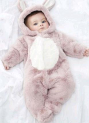 """Красивый и Тёплый Комбинезон """"Зайчик"""" Next Baby 3-6 месяцев."""