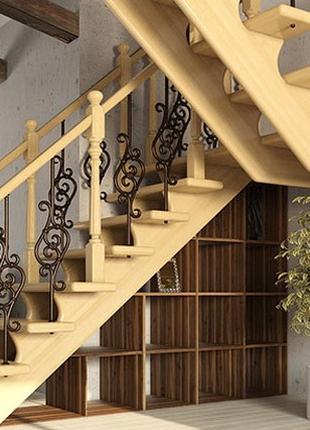 Деревянные лестницы любой сложности под заказ,ступени ,балясины,