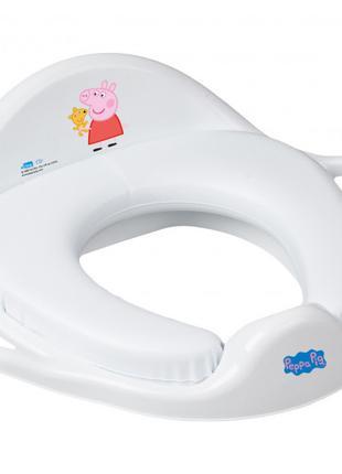 Накладка на унитаз Tega Baby мягкая Свинка Пеппа Бело-розовый