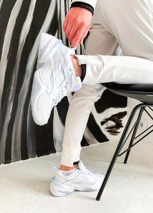 Стильные женские кроссовки белые nike m2k  white