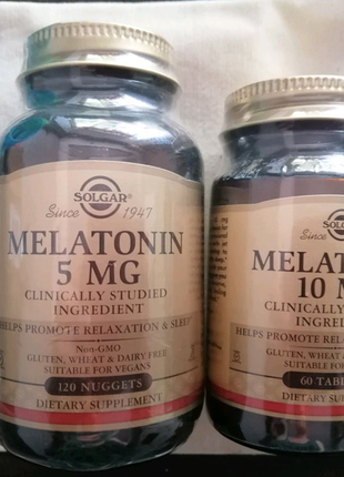 Solgar melatonin 5 mg 120 naggets Солгар Мелатонин 5 мг