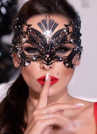 4325 mask черная женская маска со стразами