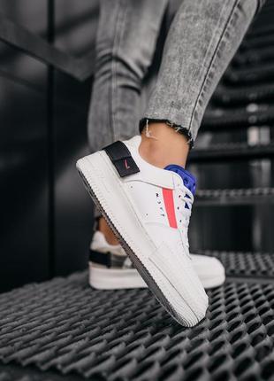 Nike air force 1 low white шикарные женские кожаные кроссовки 😍