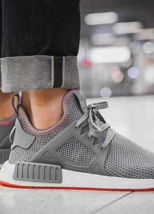Кроссовки adidas nmd xr1 grey/solar red by9925