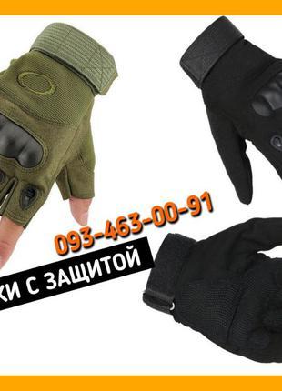 Тактические перчатки Oakley без пальцев Черный