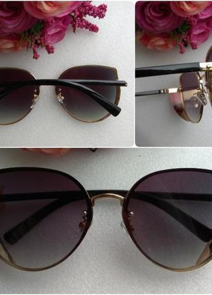 Новые красивые очки бабочки с боковой защитой, темно-фиолетовые