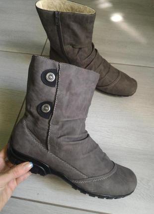 Удобные теплые ботиночки Rieker
