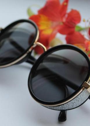 Новые крутые очки круглые (с царапиной на стекле) черные