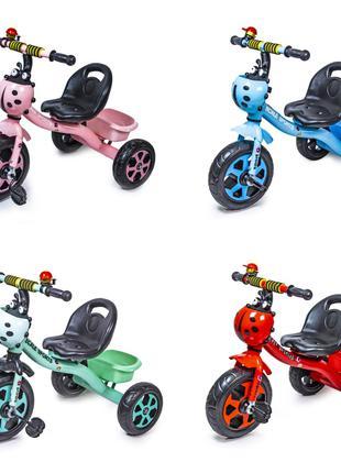 Детский металлический трехколесный велосипед Scale Sport