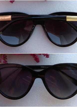Новые красивые очки лисички, черные