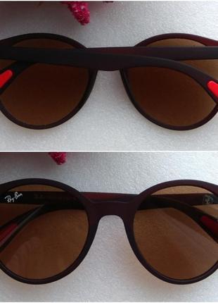 Новые модные очки в матовой коричневой оправе