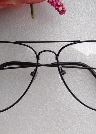 Новые очки для имиджа авиаторы (точка царапина на стекле) уценены
