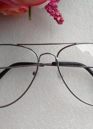 Новые очки для имиджа авиаторы (с мелкими царапинками) уценены