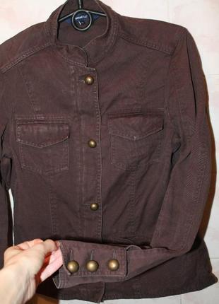 Куртка демисезонная, коричневая