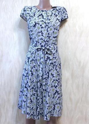 Платье с натуральной ткани с поясом wallis, р.14