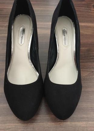 Туфли замш искуственный/ чёрные туфли