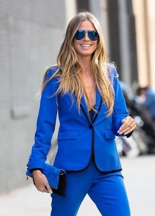 Стильный пиджак коллекция хайди клум/ жакет синий электрик