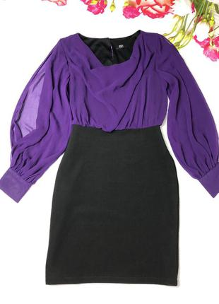Платье с длинным рукавом размер m-l/ платье шифон юбка резинка