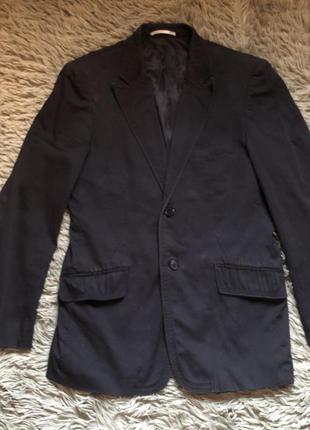 Молодёжный стильный брендовый мужской пиджак selected чёрный м-л