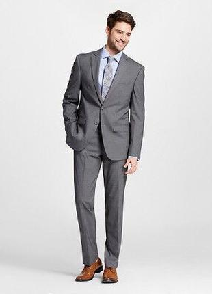 Итальянский деловой стильный мужской серый костюм 48-50