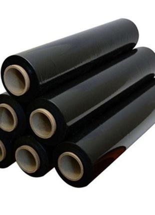 Стретч-пленка черная (насыщенно) 1.9кг*50см*300м 17мкм (6 шт.)