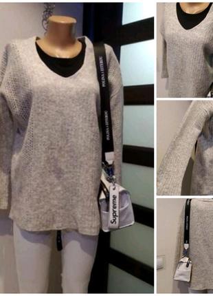 Натуральная шерсть теплый стильный джемпер свитер кофта пуловер