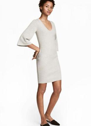 Оригинальное трикотажное платье от бренда h&m разм. l