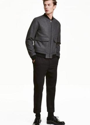 Оригинальные костюмные брюки из твила от бренда h&m разм. 56
