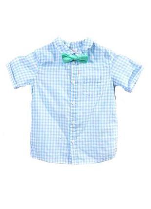 Оригинальная рубашка с бабочкой от бренда h&m разм. 80(9-12m)