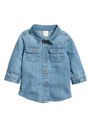 Оригинальная джинсовая рубашка от бренда h&m разм. 74(6-9m), 8...
