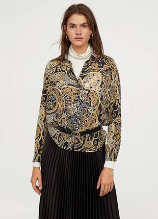 Оригинальная блузка с длинным рукавом от бренда h&m разм. 38