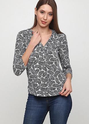 Оригинальная трикотажная блузка от бренда h&m разм. м