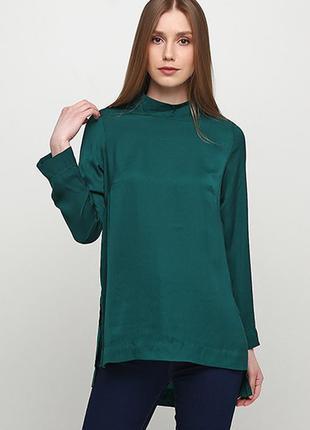 Оригинальная блузка с воротником стойкой от бренда h&m разм. 42