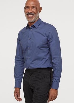 Оригинальная рубашка из хлопка - премиум от бренда h&m разм. xs