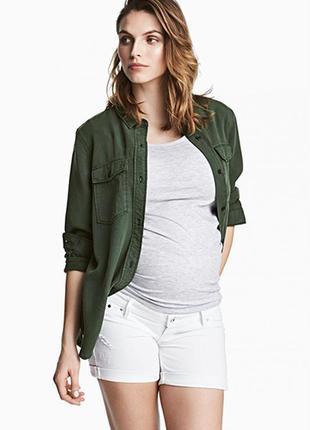 Оригинальные джинсовые шорты «мама» от бренда h&m разм. 40
