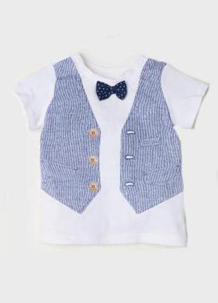 Оригинальная футболка с галстуком-бабочкой от бренда h&m разм....
